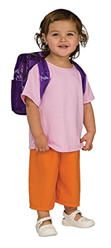 UHC Little Girl's Dora The Explorer Deluxe Toddler Kids Outfit Halloween Costume, 2T-4T (Dora The Explorer Costumes)
