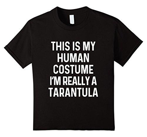 [Kids Funny Tarantula Spider Costume Shirt Halloween Kid Men Women 6 Black] (Spider Girl Costume Ideas)