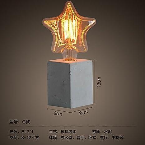 MKKM Lámpara de Mesa Lámpara de Personalidad Creativa Dormitorio ...