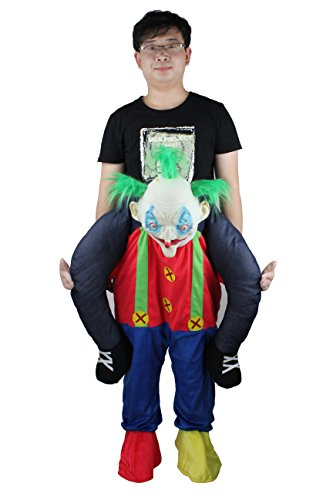 rry Me Clown Piggy Back Mascot Costume Fancy Dress Adult Xmas Gift (Fancy Christmas Dresses)