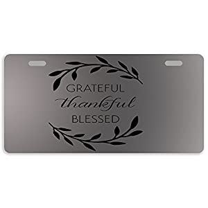 -PLate-Grateful-Thankful-Blessed-Design-Metal-Car-Tag-Auto-Tag-License-Plate