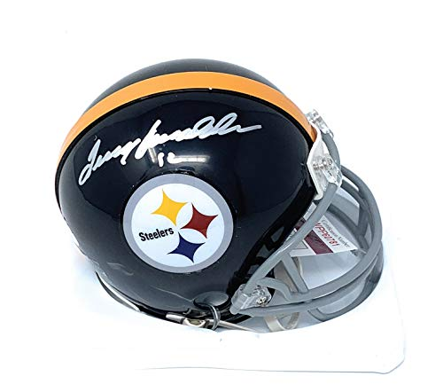Bradshaw Autographs - Terry Bradshaw Pittsburgh Steelers Signed Autograph Mini Helmet Bradshaw GTSM Player Hologram