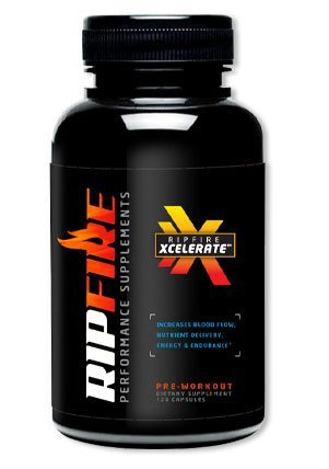 RipFire Xcelerate Pre Workout Dietary Supplement 180 Tablets 2 pack Free Workout Towel w order