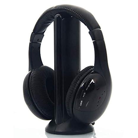 LANLAN 5 in 1 Cuffie Sportive Multifunzionale Cuffie Wireless Cuffie FM Senza  Fili per PC TV 28c3be46ba93