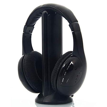 LanLan Auriculares inalámbricos RF Mic para PC TV DVD CD MP3 MP4, Cojunto de Auriculares: Amazon.es: Hogar