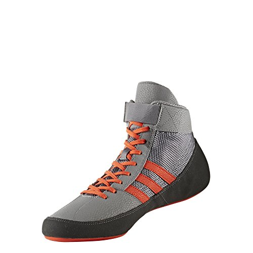 adidas HVC 2 Mens Wrestling Shoes, Grey/Solar Red/Grey, Size 11 by adidas