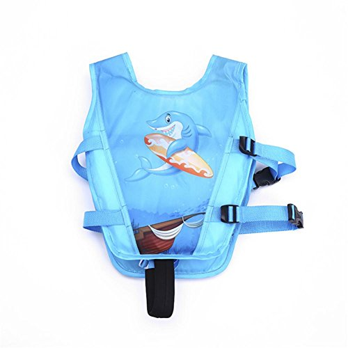 Besde Baby Inflatable Sea Swimming Pool Vest Float Aid Jacket Swim Training Jacket (E, Kids 2-7 Years Old)