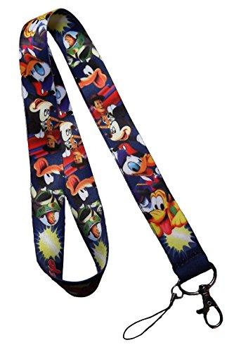 Disney Characters Repeat LANYARD Keychain (Adult Disney Characters)