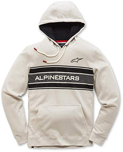 White Homme Avec Heritage D'inspiration Graphique Sport Pole Coupe Pull Fleece Moderne Alpinestars Motor Off qnwPUAxOC