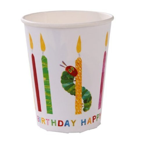 The Very Hungry Caterpillar Happy Birthday Cups, pack of 8 by Party Bags 2 Go