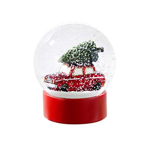 - Christmas Snow Globes Red Car Christmas Decorations Snow Globe 5