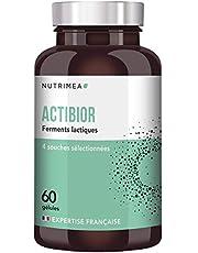 Probiotique 5,7 x 60 Milliards de Bactéries par pilulier - ACTIBIOR - composition multi-souches dont lactobacillus - Gélules végétales gastro-résistantes - Fabriqué en France