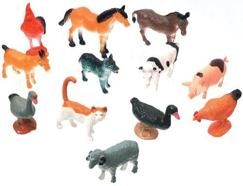Darice 1029 08 Creatures Decorative Farm Animals  12 Pack