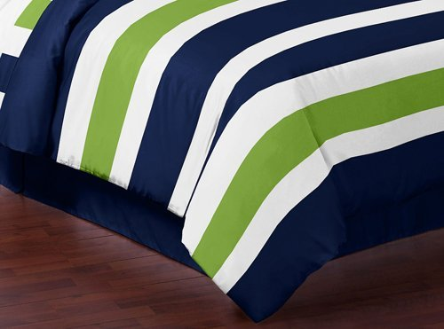 Best navy blue lime green and white childrens kids teen - Navy blue and green bedding ...