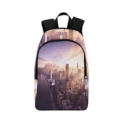 APJDFNKL New York City Landmark Statue of Liberty Casual Daypack Travel Bag College School Backpack for Mens and Women
