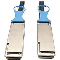 Tripp Lite QSFP28 to QSFP28 100GbE Passive DAC Copper InfiniBand Cable (M/M), 2M, 6 ft. (N282-02M-28-BK)