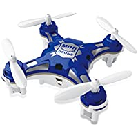 FunnyPro Mini 124 Pocket Drone 4CH 6Axis Gyro RC Micro Quadcopter with Switchable Controller(Blue)