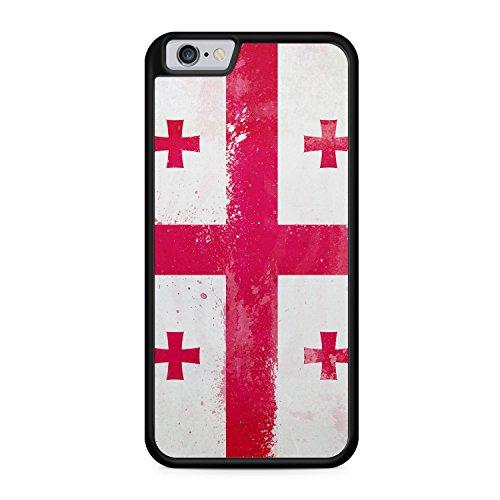 Georgien Grunge - SILIKON Hülle für iPhone 6 & 6s - TPU Cover Case Schutz Schale Flagge Flag Georgia