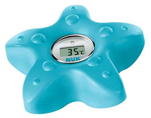 NUK 10256417  Digitales Badethermometer, zum Messen der Wasser-Temperatur, schnell und zuverlässig, mit Temperatur-Alarm, petrol