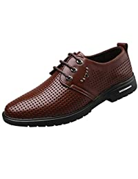 Men Leather Shoes Classic - Wedding Shoes Breathable Pointed Toe Oxford Shoes Fashion Casual Business Shoes