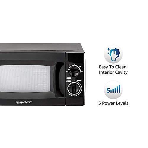 (Renewed) AmazonBasics 20 L Solo Microwave Oven (AB2019001_cr, Black)