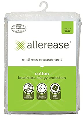 Aller-Ease 100-percent Breathable Cotton Allergy Mattress Protector