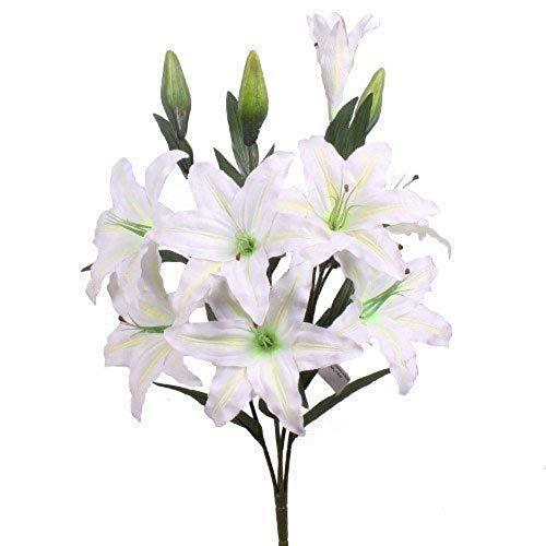 MARJON FlowersHuge Cream Lilies, Stargazer Lily Artificial Flowers