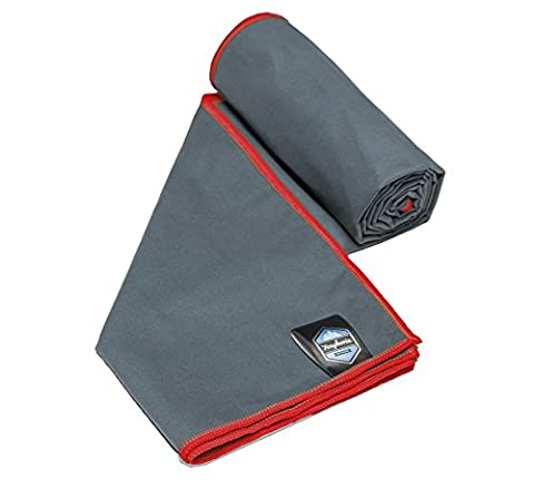 Youphoria Sport Microfiber Travel Towel and Sports Towels (Gray/Red - 20