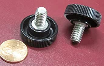 Acetal Thread Size 5//16-18 Thread Size 5//16-18 FastenerParts Plastic-Head Thumb Screw Knurled