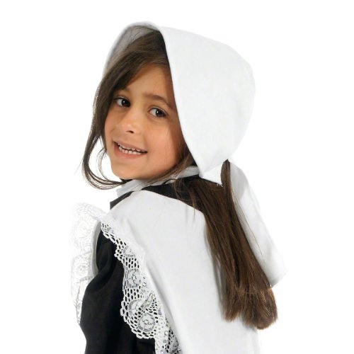 White Bonnet Hat / Colonial Hat