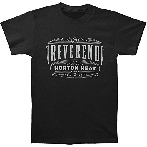 Reverend Horton Heat Men's Pinstripe T-shirt Medium Black (Reverend Horton Heat T Shirt)