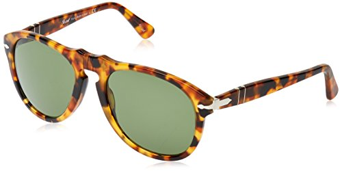 Persol Men's 0PO0649S Spotted Havana/Green - Sunglasses Persol 649