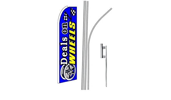 2 two OPEN FOR BUSINESS blue 15 Swooper #4 Feather Flags KIT