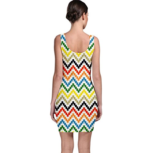 Painted Style Bodycon Hand Pattern Colorful Colorful Hand Style Dress CowCow CowCow Chevron Painted Chevron Pattern xqCZnfvtw