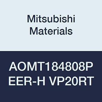 0.031 Corner Radius Mitsubishi Materials AOMT184808PEER-H VP20RT Coated Carbide Milling Insert Round Honing Parallelogram 85/° Class M Pack of 10 0.189 Thick