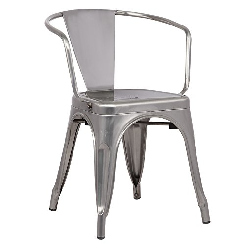 Poly and Bark Trattoria Arm Chair in Polished Gunmetal ()