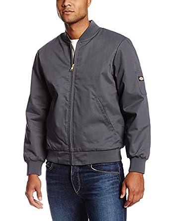 Dickies Workwear jtc2ch profesional equipo de poliéster/algodón con aislamiento chaqueta con Slash bolsillos delanteros, color gris: Amazon.es: Amazon.es