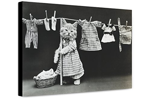(ClassicPix Canvas Print 20x30: Hanging Up The Wash, 1914)