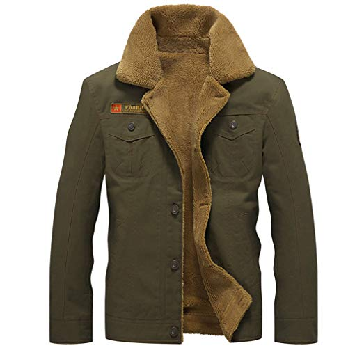 - VADOLY Winter Bomber Jacket Men Collar Army Tactical Fleece Jackets Warm Male Outwear Coats