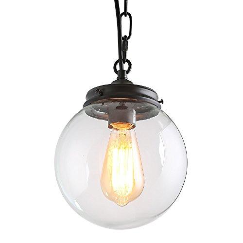 Glass globe pendant light amazon lnc modern pendant light globe pendant lighting ceiling lights aloadofball Choice Image