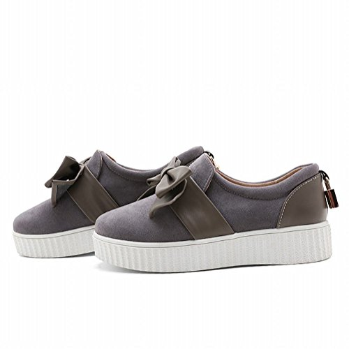 Mee Shoes Damen süß Schleife Geschlossen Pumps Grau