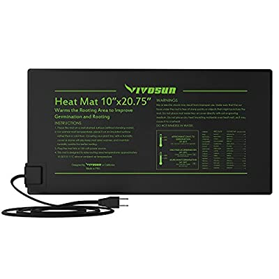 VIVOSUN Durable Waterproof Seedling Heat Mat Warm Hydroponic Heating Pad