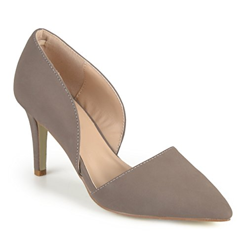 Journee Collection Womens Almond Toe Cut-out Pumps Taupe