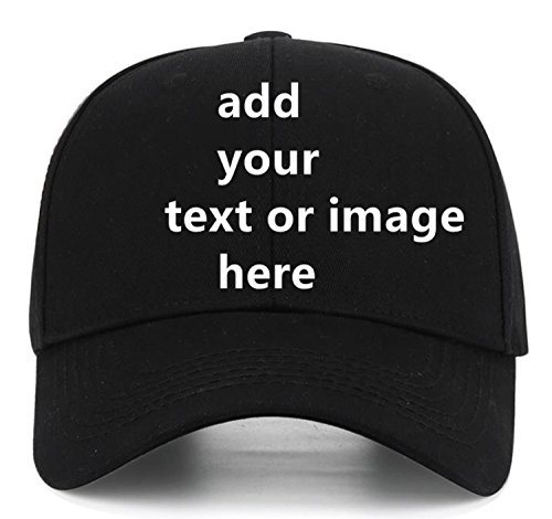 with Your Text,Personalized Adjustable Trucker Caps Casual Sun Peak Hat for Gifts ()