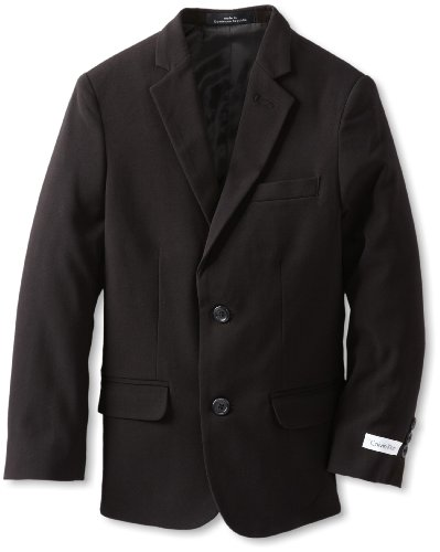 Calvin Klein Big Boys' Husky Bi-Stretch Blazer,Black,20 (Boy Blazers On Sale)