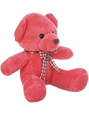 Stuffed Bear Toy for Kids, Red - EM1006