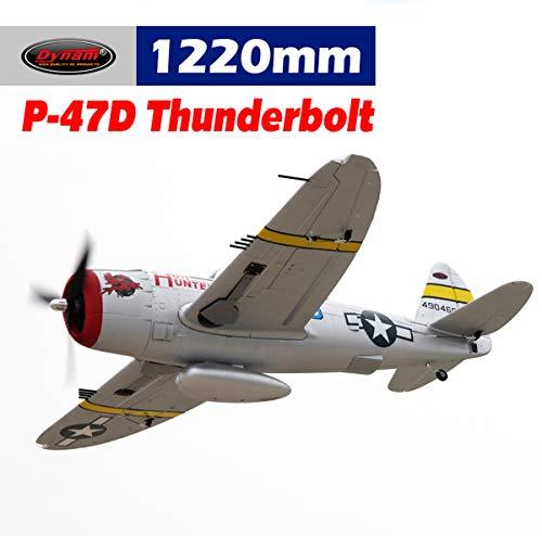 (DYNAM RC Airplane P47-D Thunderbolt 1220mm Wingspan - PNP)