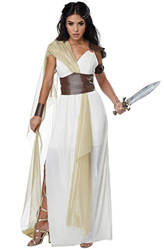 California Costumes Women's Spartan Warrior Queen Adult Woman Costume, Cream/Gold, Medium]()