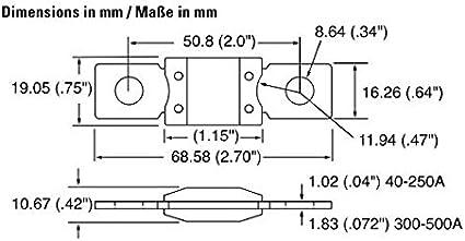 Woljay Bolt Down Auto Sicherung 250a Zeitverzögerung 32v 298 Serie Mega Auto