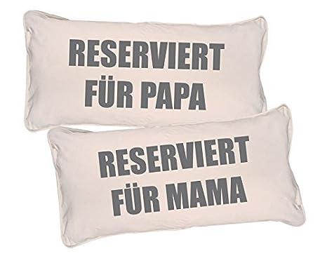 GD de Designs - Cojín de Juego Reservado Para Mamá y papá 2 ...